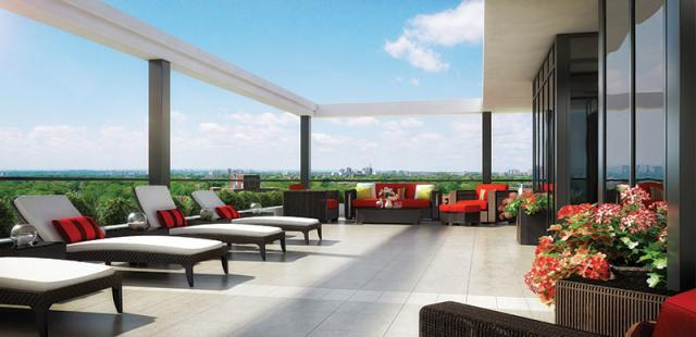 Outdoor terrace at The Barrington, image by Lash Group and Goldman Group
