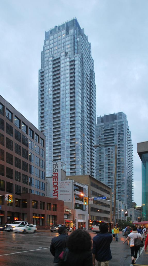 Yonge and Eglinton are major retail avenues, image by Marcus Mitanis