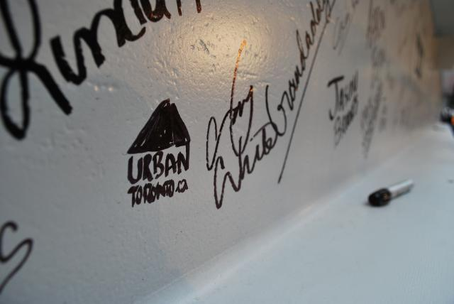 UrbanToronto makes its mark on the beam, image by Marcus Mitanis