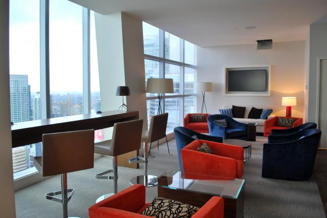 The Club Lounge includes lounging areas and work spaces, image by Marcus Mitanis