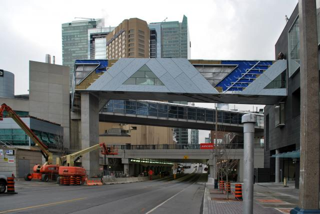 PATH bridge over Simcoe and connecting to SkyWalk, image by Marcus Mitanis