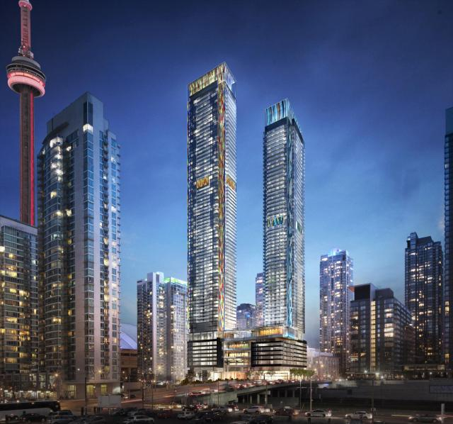 The towers will be the last and tallest of CityPlace, image by Concord Adex