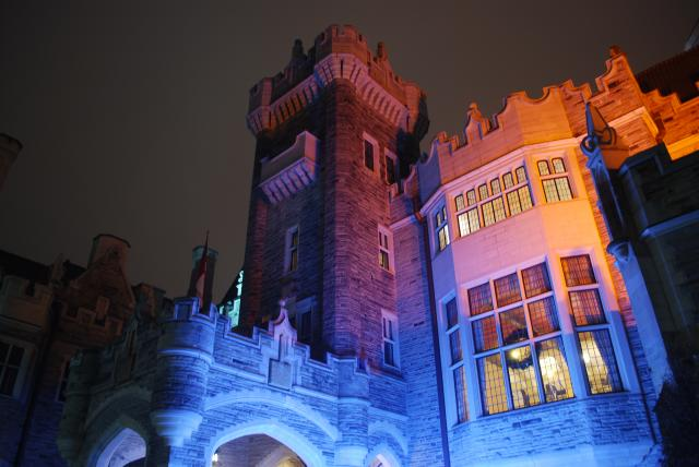 Casa Loma shrouded in light, image by Marcus Mitanis