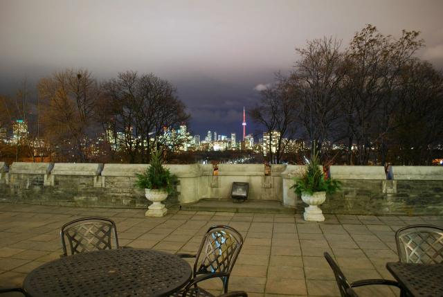 The outdoor terrace provides views of the city skyline, image by Marcus Mitanis