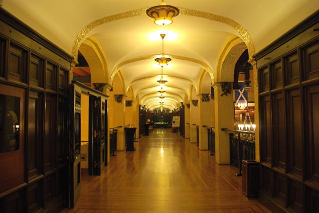 The second level hall has had its floors restored, image by Marcus Mitanis