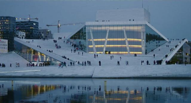 Oslo Opera, from Cathedrals of Culture, copyright neueroadmovies