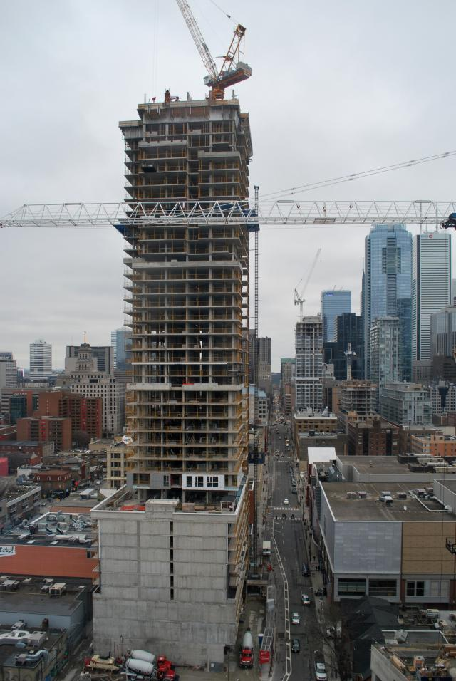 Picasso Condos is visible directly to the east, image by Marcus Mitanis