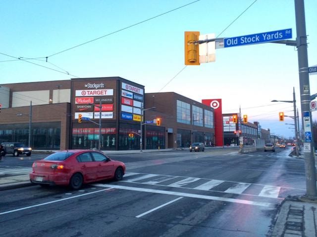 Stockyards, Toronto, Target, St. Clair, streetcar, retail, mall
