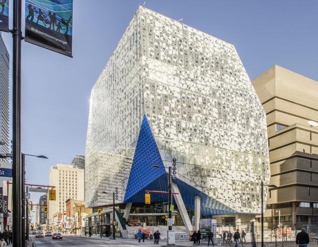 Ryerson Student Learning Centre, design by Snohetta and Zeidler