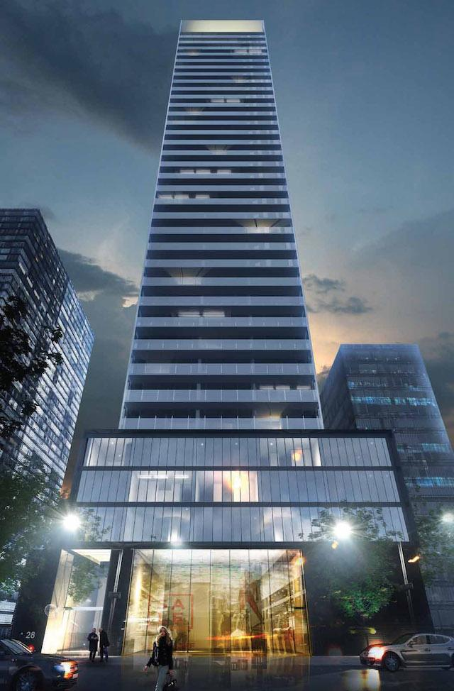 Vox Condominiums, designed by architectsAlliance for Cresford, Toronto