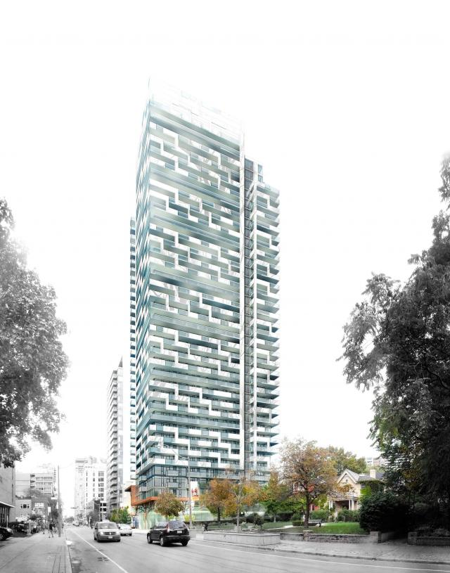 50 at Wellesley Station, designed by Quadrangle Architects for Plaza, Toronto