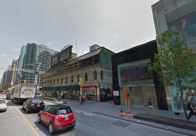 1-11 Bloor Street West, image courtesy of Google Streetview