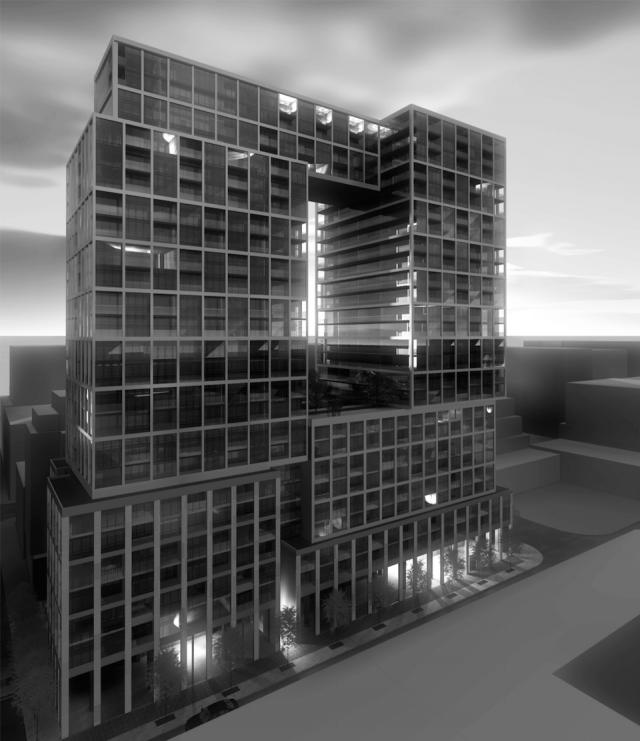 Rendering of 154 Front Street East, image courtesy of Cityzen