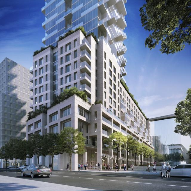 Monde Condominiums Toronto, designed by Moshe Sadie for Great Gulf