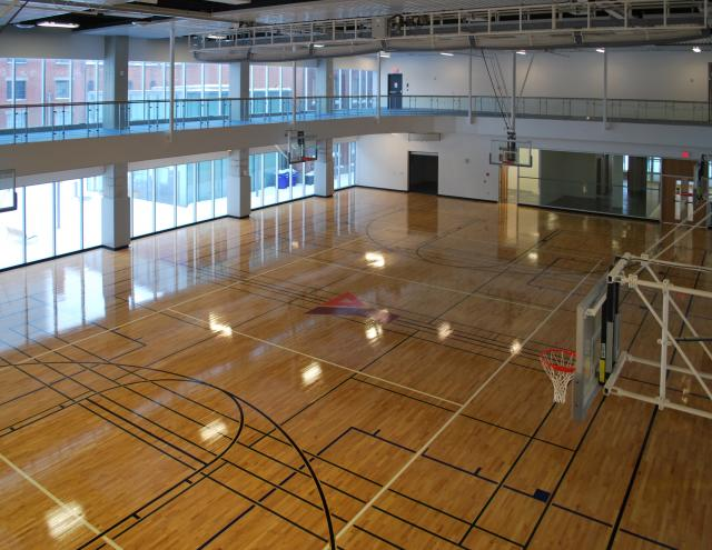 7,000 square foot gymnasium is nearly ready for action, image by Marcus Mitanis