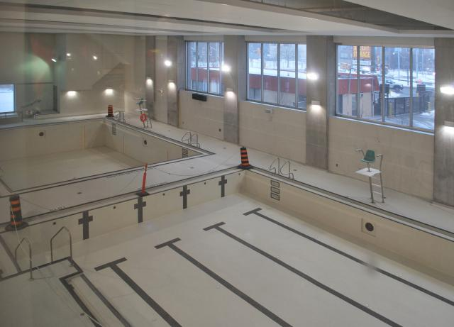 The YMCA swimming pools, including one with an adjustable floor, image by Marcus