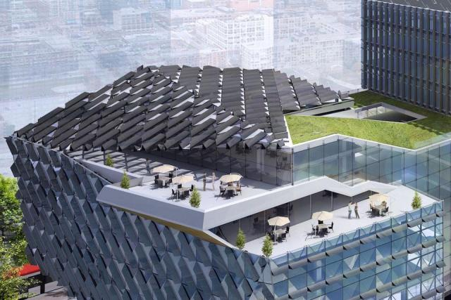 Waterfront Innovation Centre roof, image courtesy of Menkes