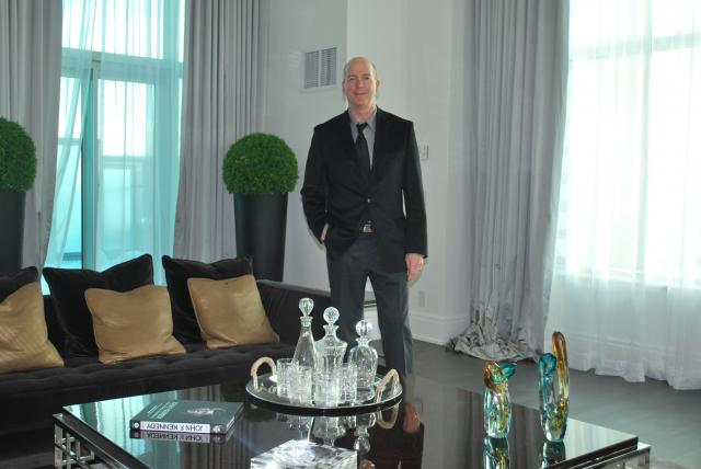 Neil Labatte in one of the Trump Residences' penthouses, image by Marcus Mitanis