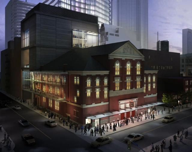 Rendering, Massey Hall revitalization plan, KPMB Architects, Toronto