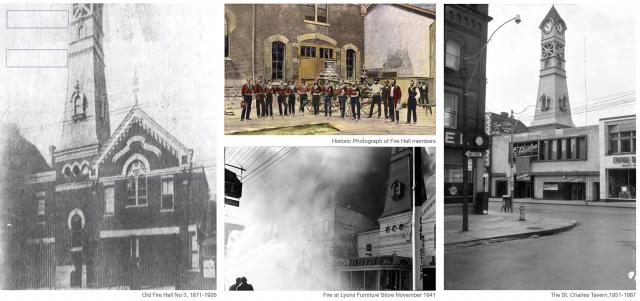 Historical photos of Old Fire Hall No.3, image courtesy of Quadrangle Architects