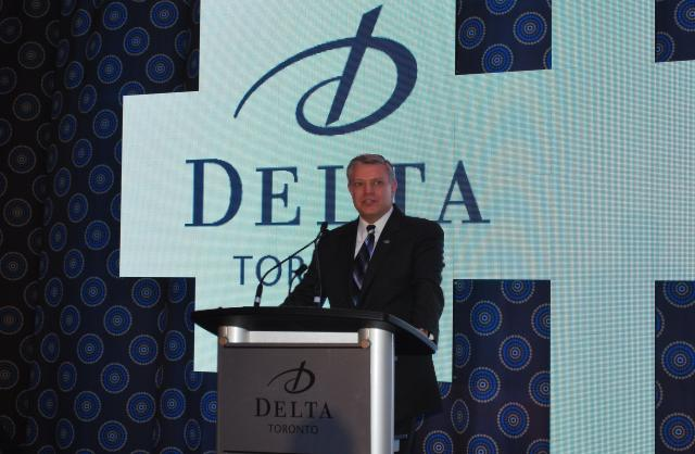 Delta President CEO Kenneth Greene talks the hotel, image by Marcus Mitanis