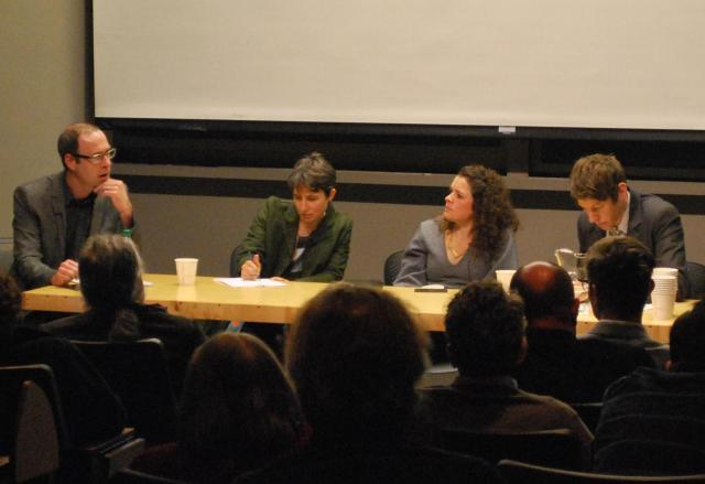 The panelists take questions from the audience, image by Marcus Mitanis