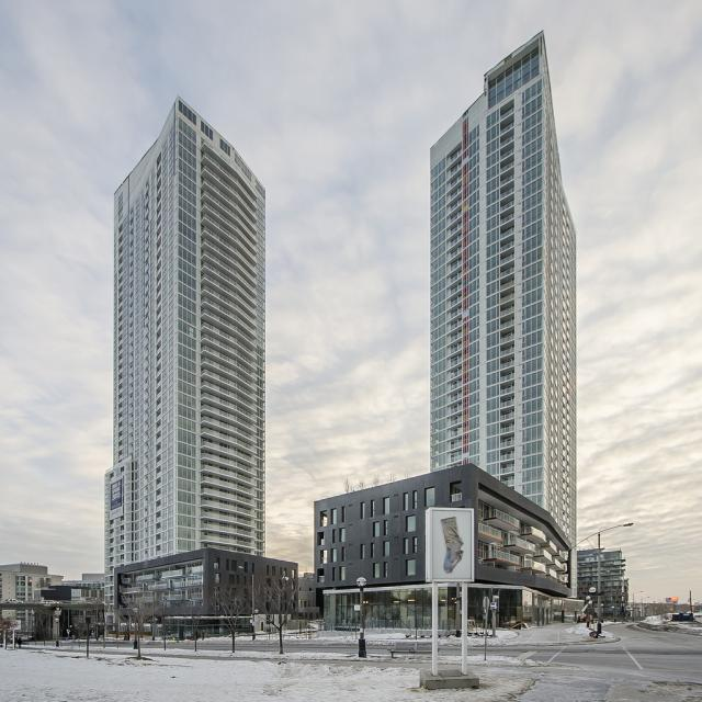 Quartz and Spectra at Concord CityPlace, Toronto, design by RAW