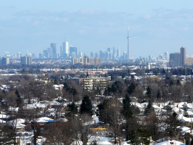 The view from Cloud9 Condominiums towards Downtown Toronto, Lash Group