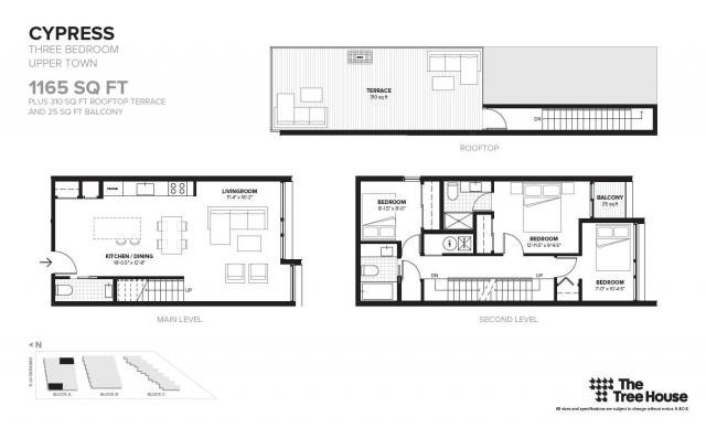 Floor plan for 'Cypress', located in Block A, image by Symmetry Developments
