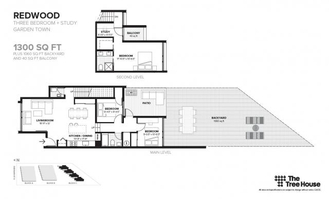 Floor plan for 'Redwood', located in Block C, image by Symmetry Developments