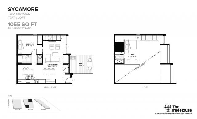 Floor plan for 'Sycamore', located in Block B, image by Symmetry Developments