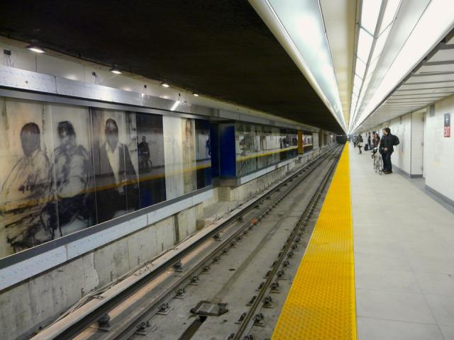 Union station revitalization, union subway platform, Stuart Reid, art, Toronto