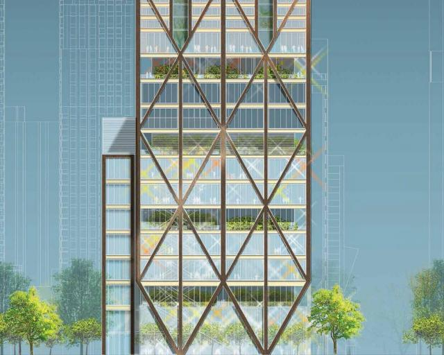 Yonge Street Elevation of The One, Mizrahi Developments, Foster + Partners