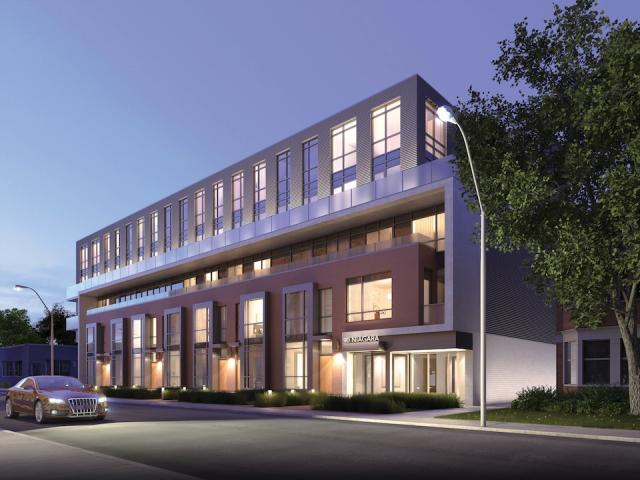 Two-storey residences front Niagara Street, image courtesy of Fieldgate Homes