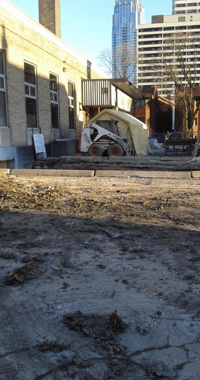 The Postal Station K's rear-end demolished, image by UrbanToronto forum contribu