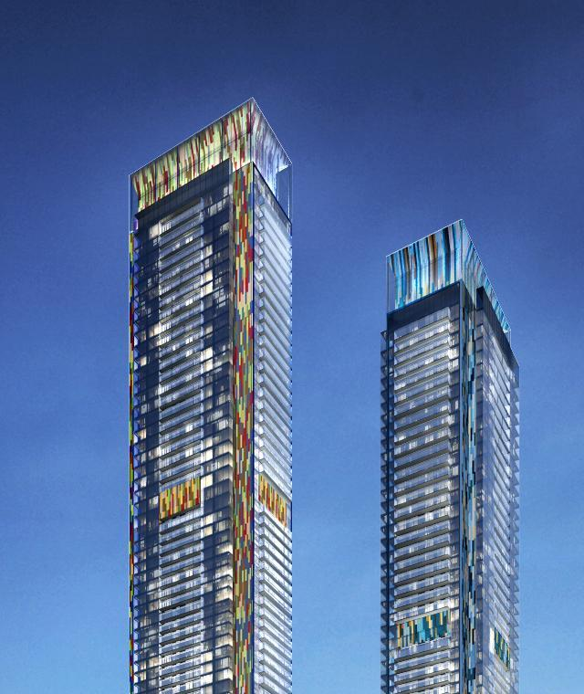 Glass-topped, art-filled towers for Concord CityPlace, Toronto