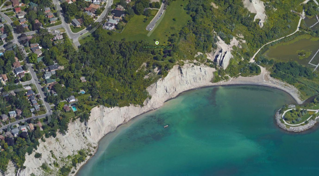 The Scarborough Bluffs, image retrieved from Google Maps