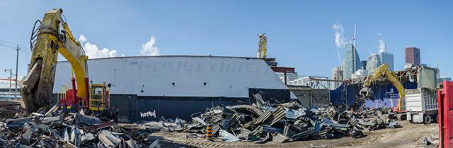 Demolition proceeds down the east wall of The Guvernment, image by kotsy