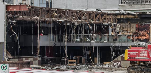 Demolition of The Guvernment's main room, image by kotsy