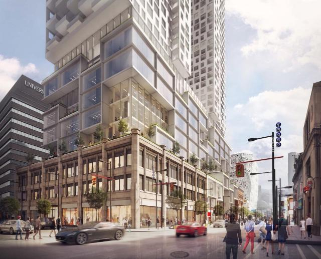 Proposal for 385 Yonge Street by Kingsett Capital, Toronto, Quadrangle