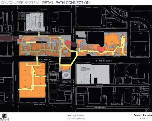 PATH connections, The One, Toronto Mizrahi Developments, Foster + Partners