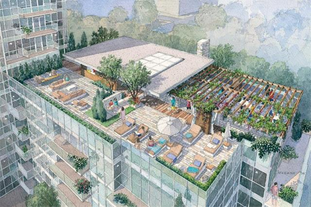 Rooftop amenity area, image courtesy of Urban Capital/ALIT Developments