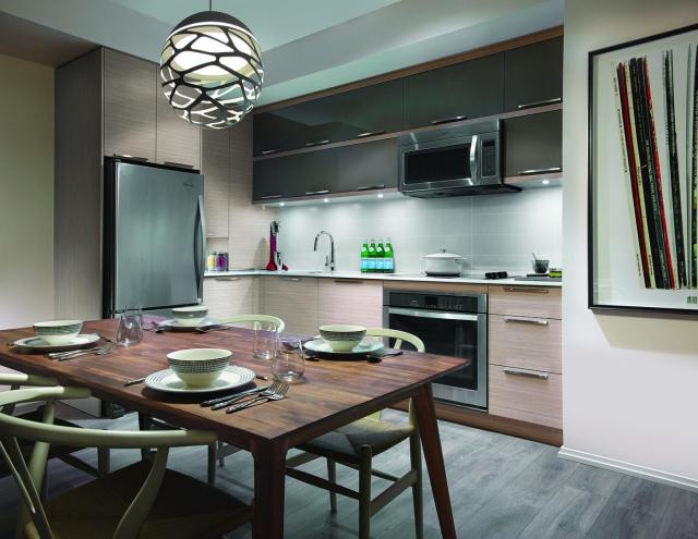 Model suite kitchen, image courtesy of Urban Capital/ALIT Developments