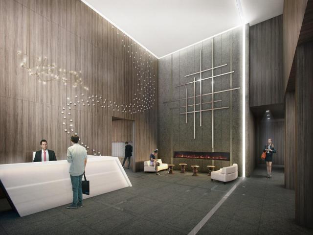 Grid Condos lobby, image courtesy of CentreCourt Developments
