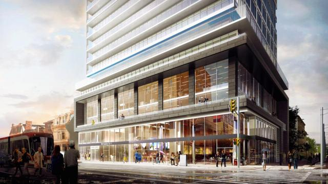 Dundas Street frontage of Grid Condos, image by CentreCourt Developments