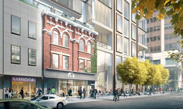Revised Yonge Street design of The One, Toronto, Foster + Partners, Mizrahi Developments