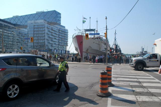 Captain John's this morning at the foot of Yonge Street, image by Marcus Mitanis