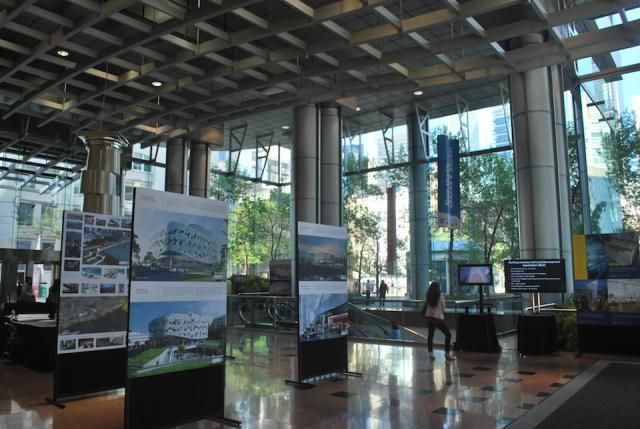 The lobby of 225 King St West has more displays, Toronto of the Future