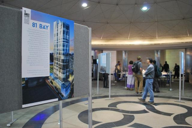 UrbanToronto's display is in the middle of the rotunda, Toronto of the Future
