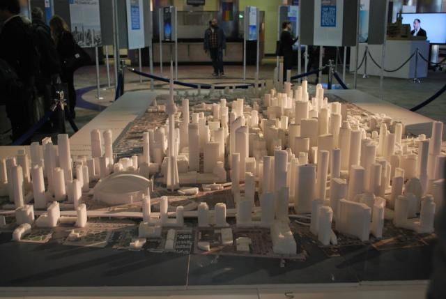 The Hariri Pontarini Architects model of Downtown Toronto, image by Marcus Mitan